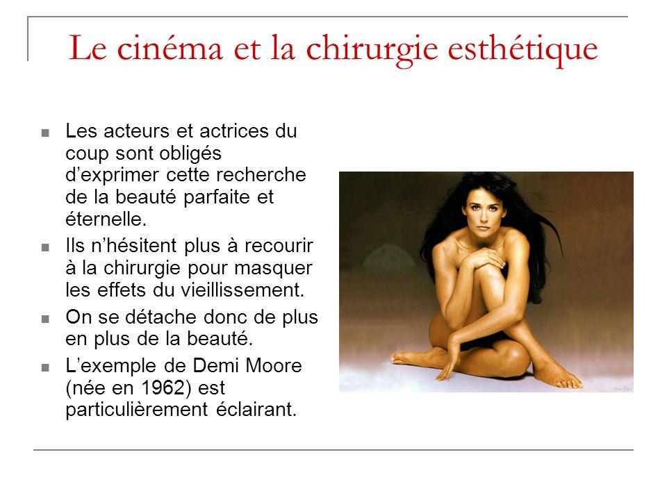 Le cinéma et la chirurgie esthétique