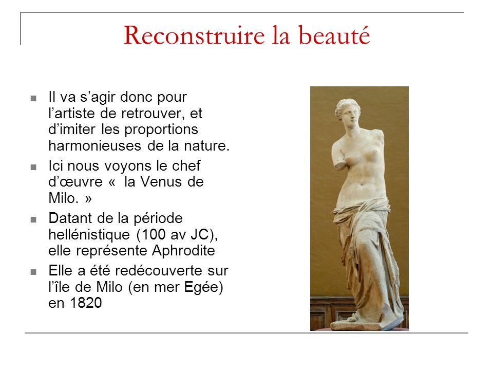 Reconstruire la beauté
