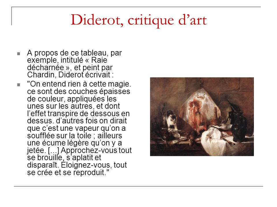 Diderot, critique d'art