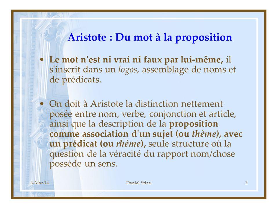 Aristote : Du mot à la proposition