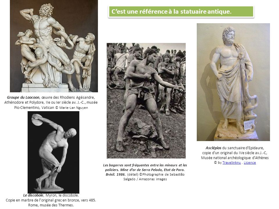 C'est une référence à la statuaire antique.
