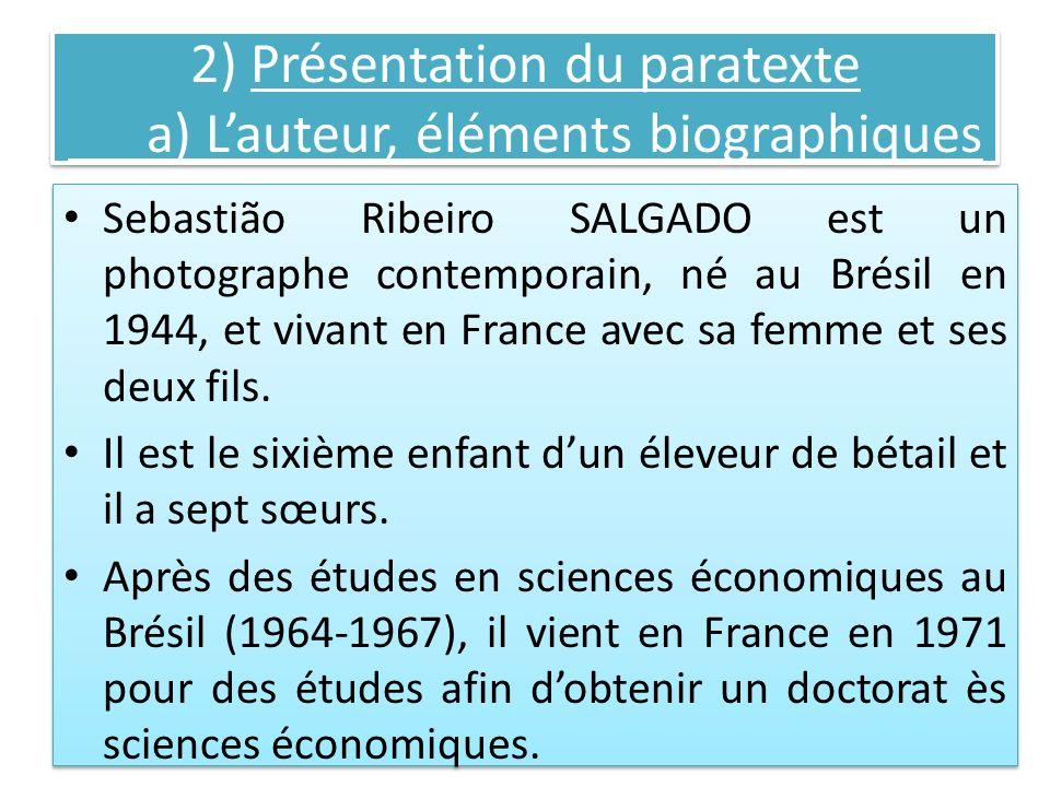 2) Présentation du paratexte a) L'auteur, éléments biographiques