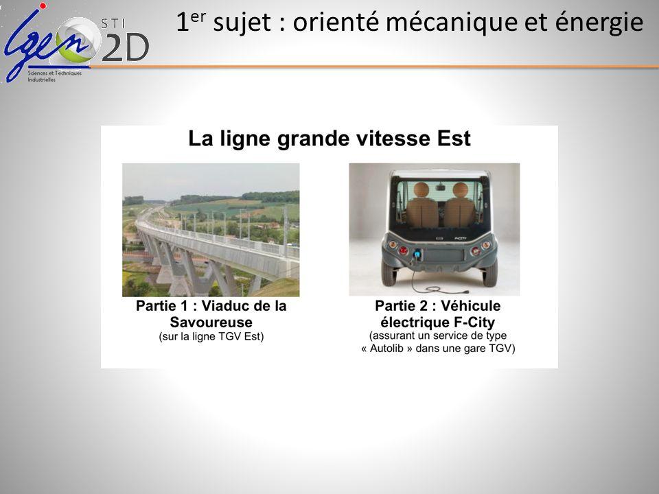 1er sujet : orienté mécanique et énergie