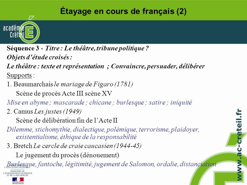 Étayage en cours de français (2)