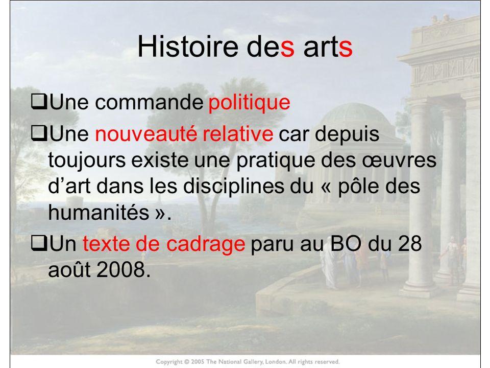 Histoire des arts HISTOIRE DES ARTS Une commande politique