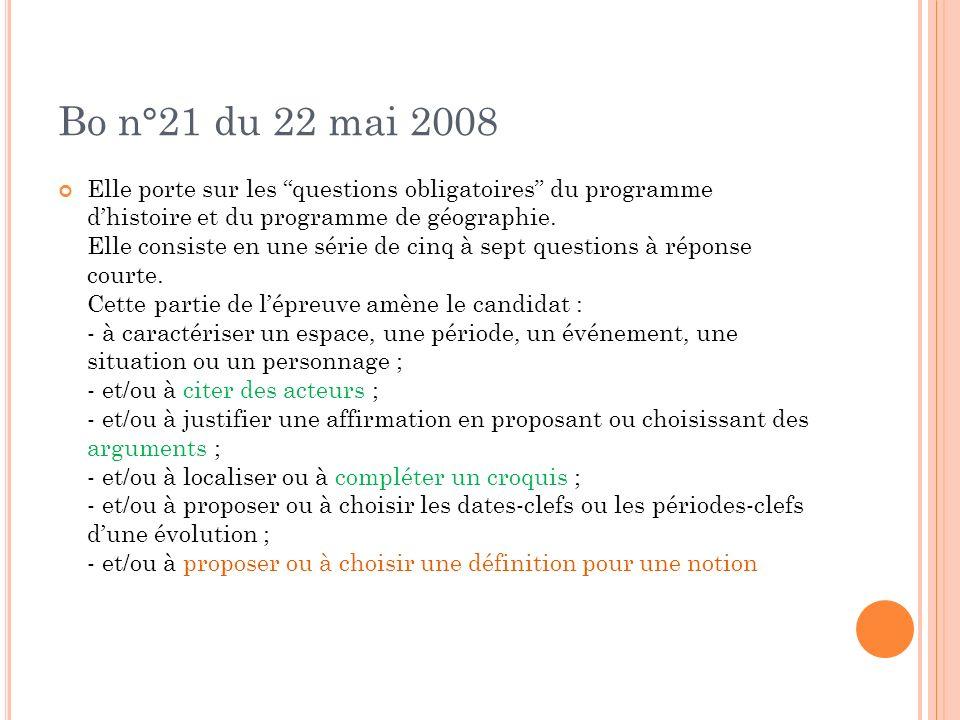 Bo n°21 du 22 mai 2008