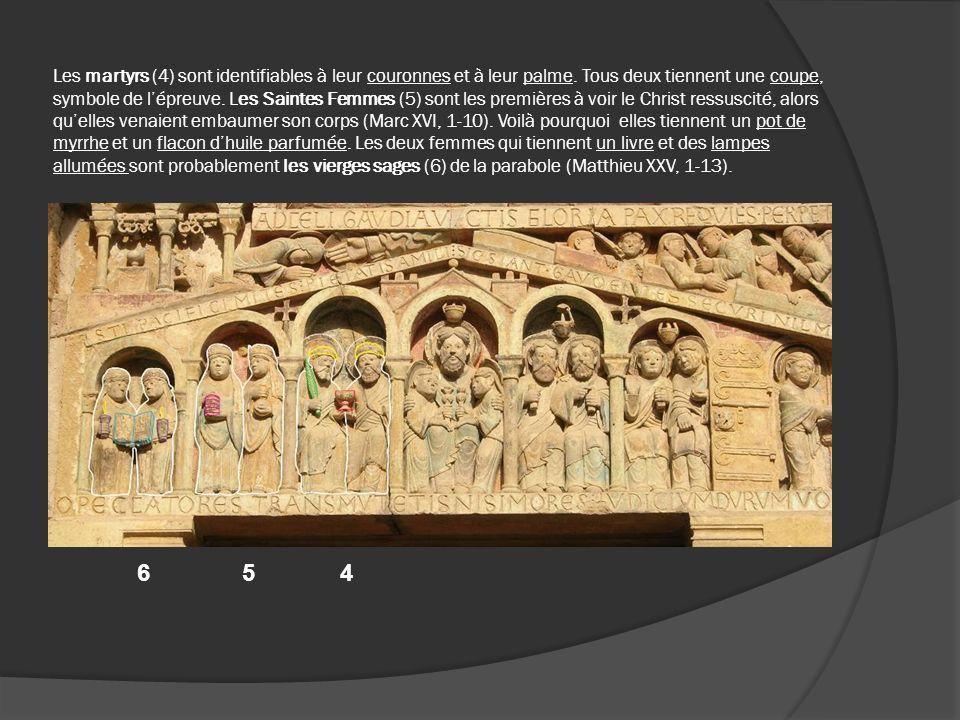 Les martyrs (4) sont identifiables à leur couronnes et à leur palme