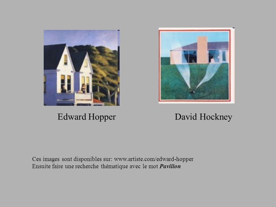 Edward Hopper David Hockney