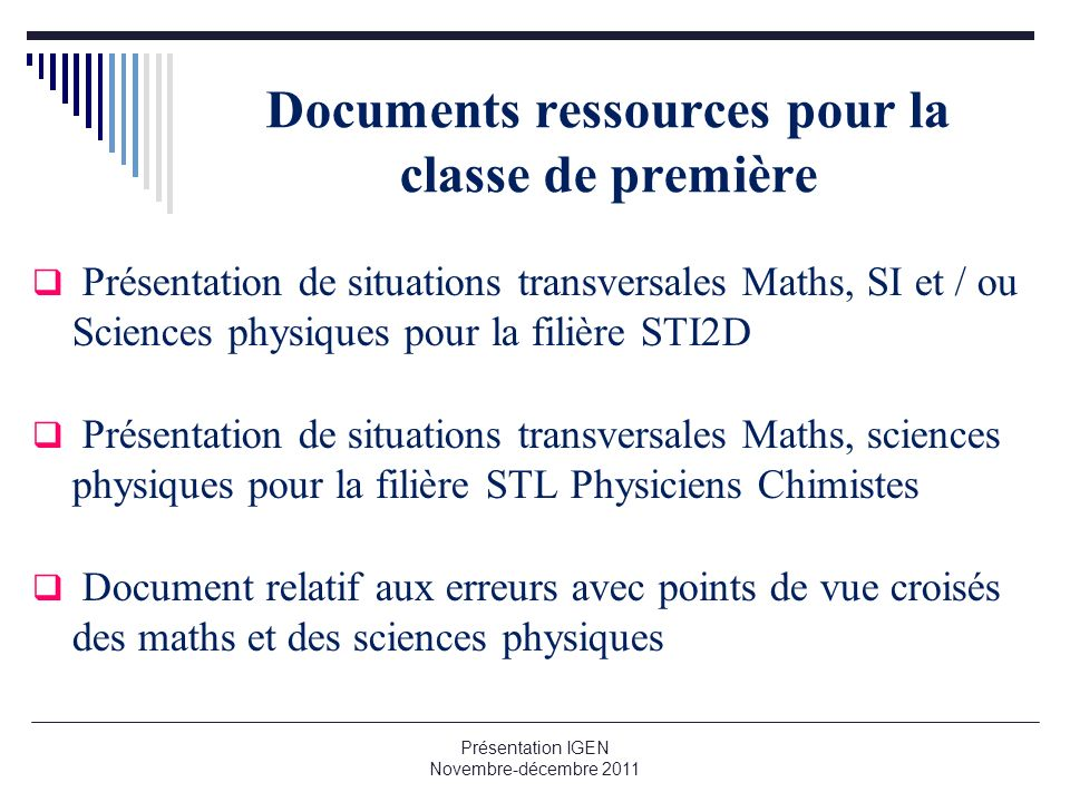 Documents ressources pour la classe de première