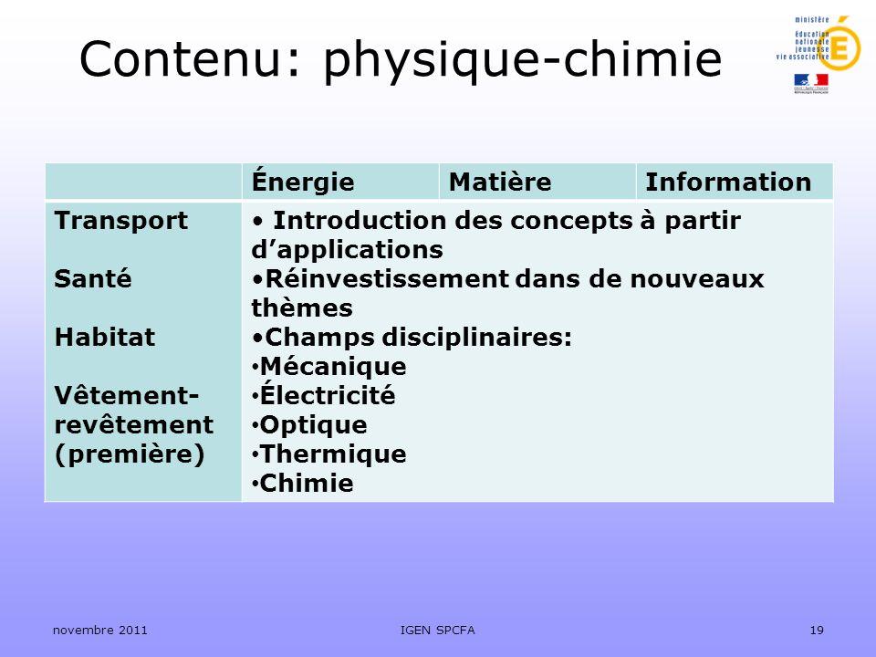 Contenu: physique-chimie