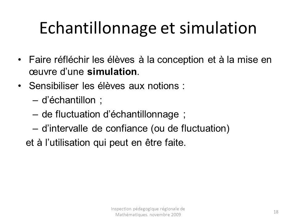 Echantillonnage et simulation