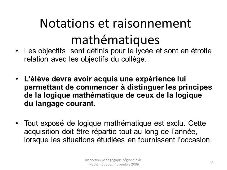 Notations et raisonnement mathématiques