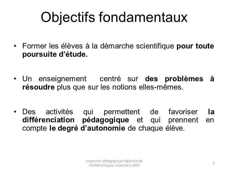 Objectifs fondamentaux