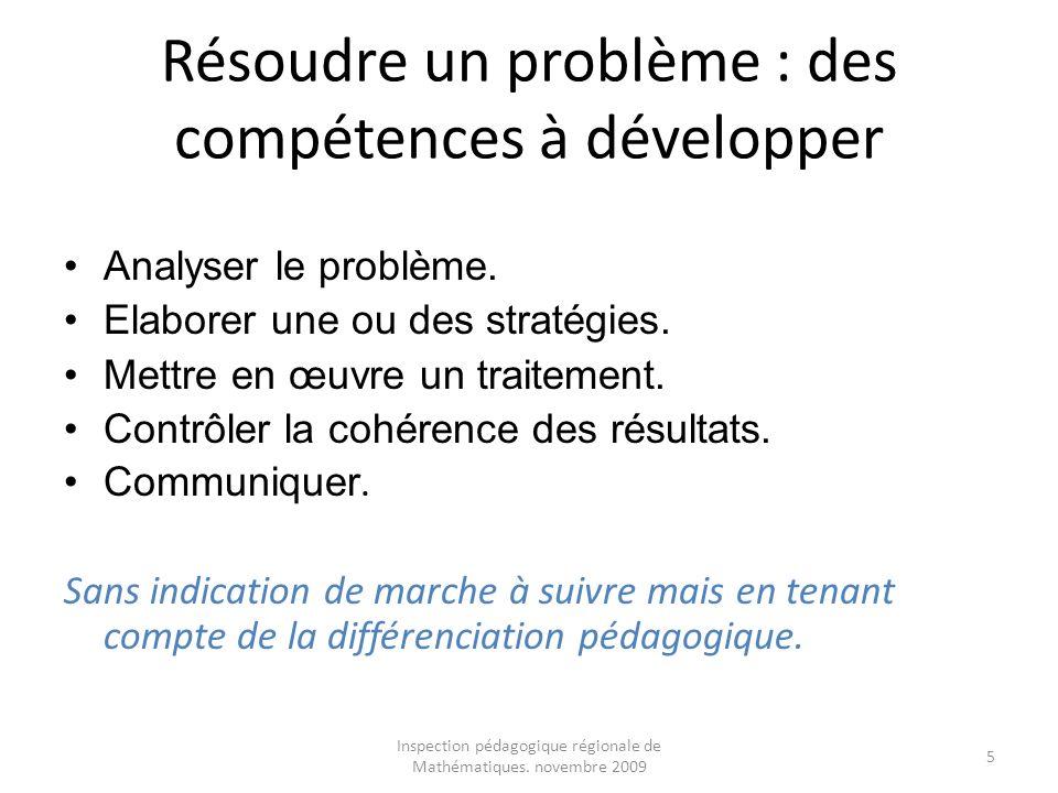 Résoudre un problème : des compétences à développer