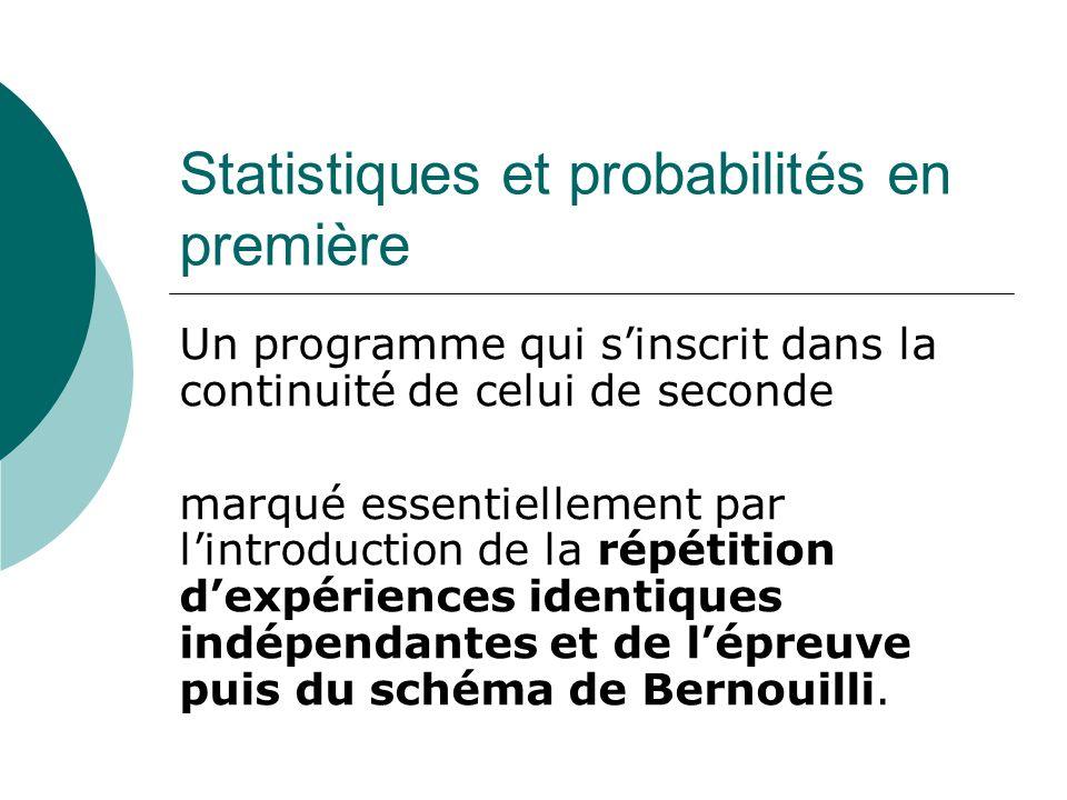 Statistiques et probabilités en première