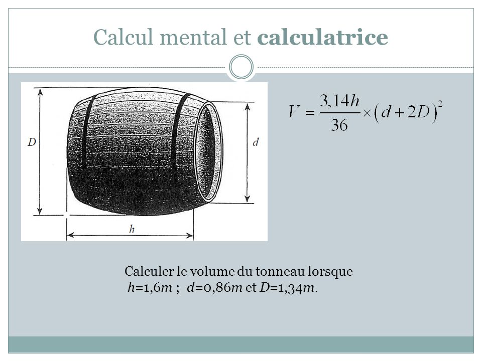 Calcul mental et calculatrice