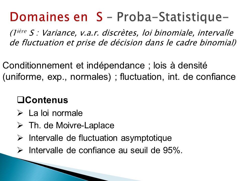 Domaines en S – Proba-Statistique-