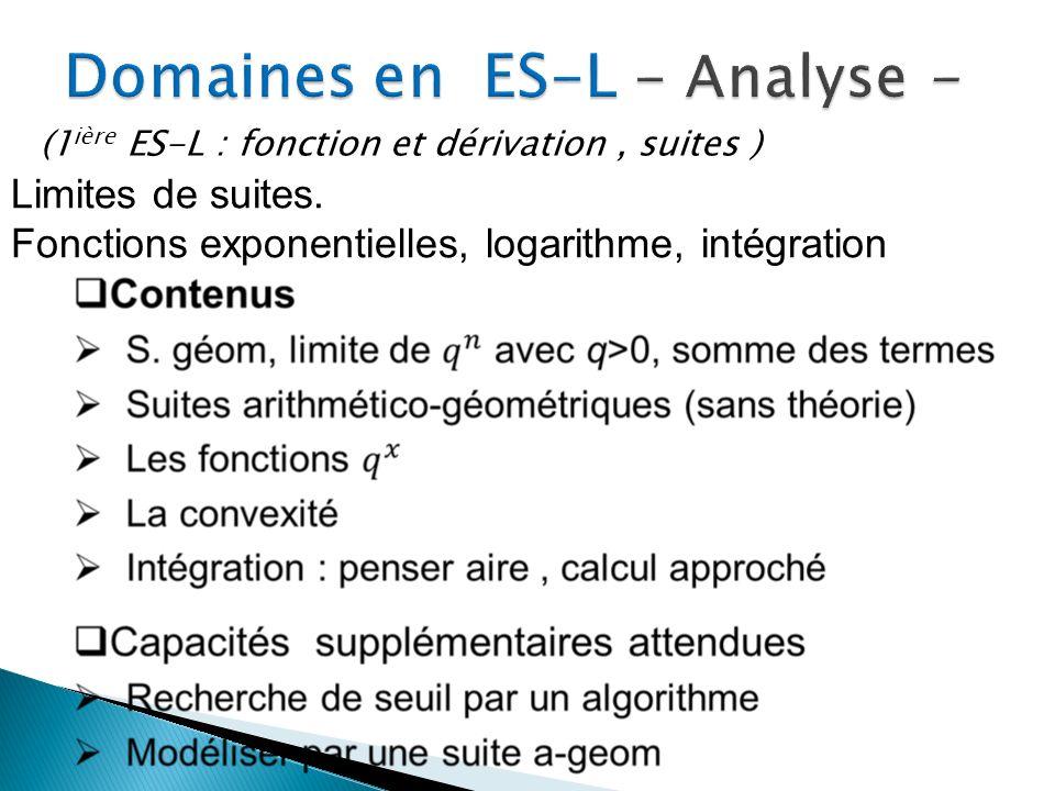 Domaines en ES-L - Analyse -
