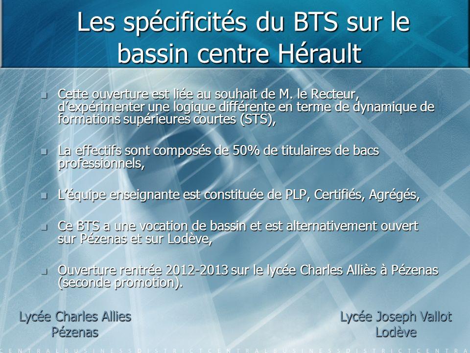Les spécificités du BTS sur le bassin centre Hérault