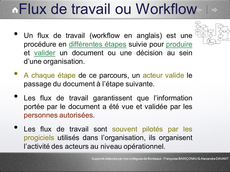 Flux de travail ou Workflow