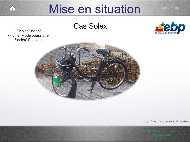 CF – Mise en situation Société Solex