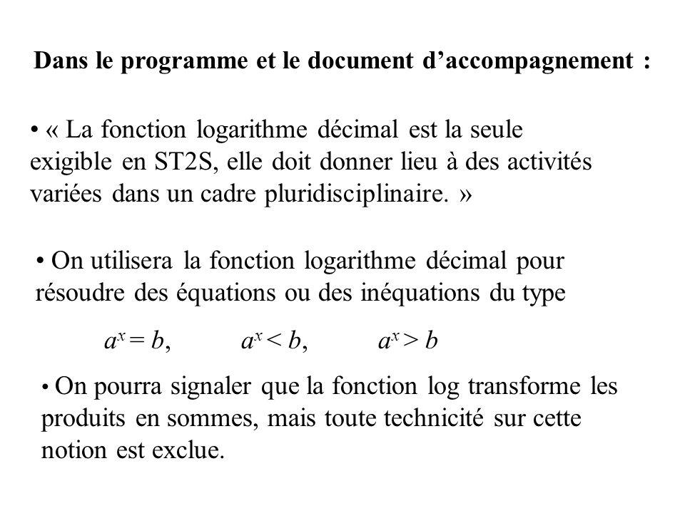 Dans le programme et le document d'accompagnement :
