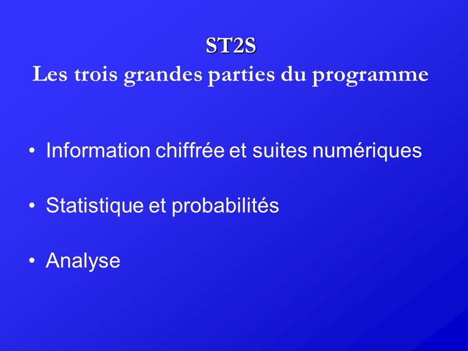 ST2S Les trois grandes parties du programme