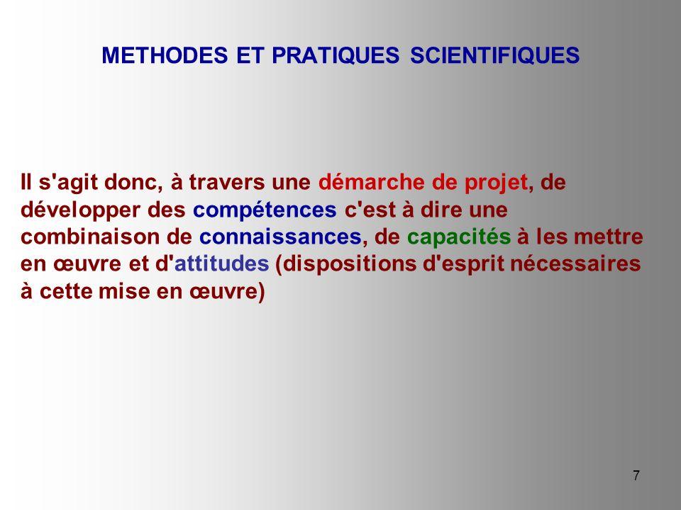 METHODES ET PRATIQUES SCIENTIFIQUES