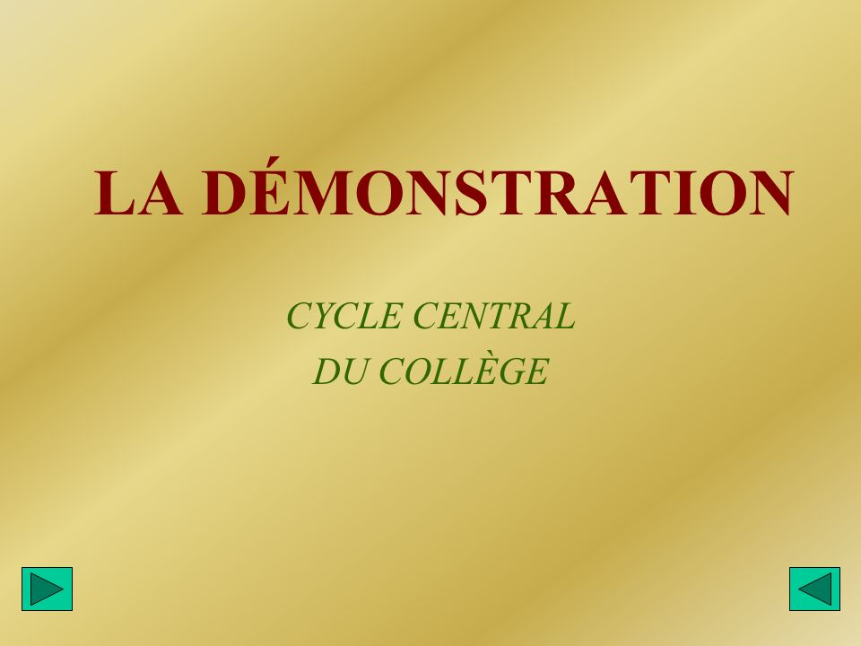 CYCLE CENTRAL DU COLLÈGE