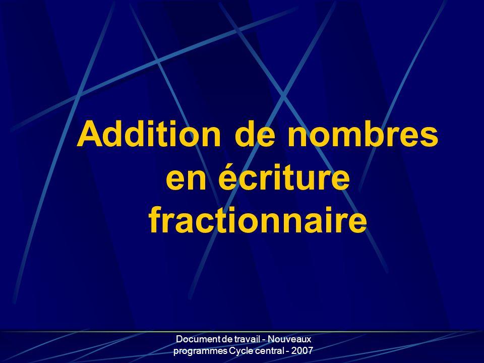 Addition de nombres en écriture fractionnaire