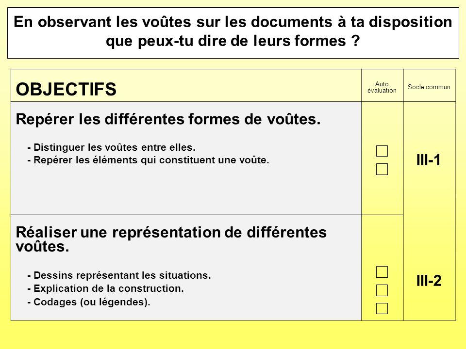 En observant les voûtes sur les documents à ta disposition que peux-tu dire de leurs formes