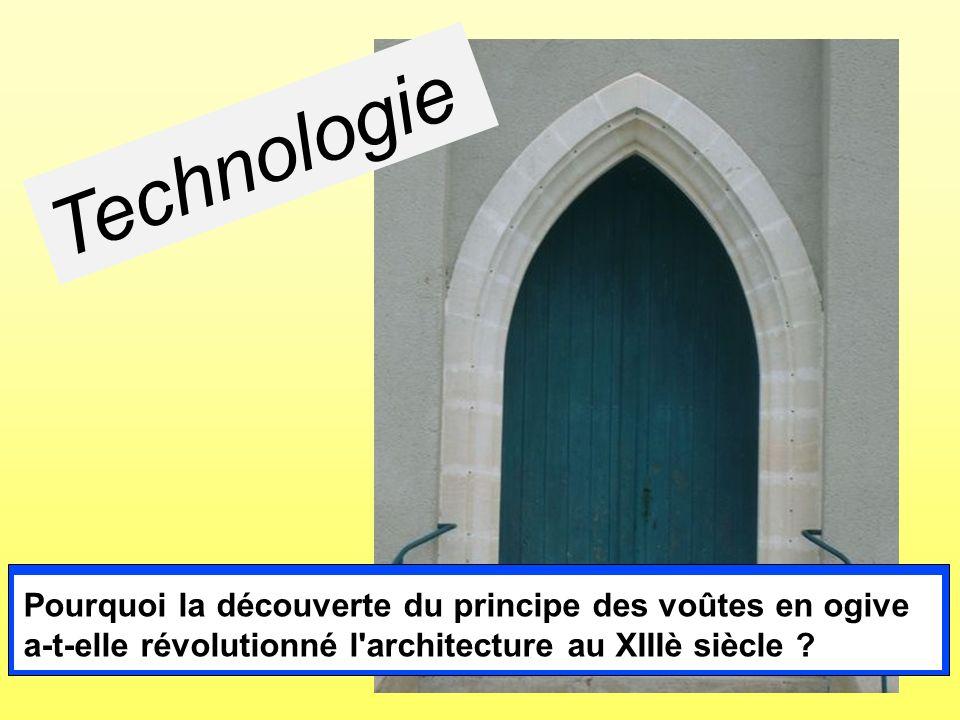 Technologie Pourquoi la découverte du principe des voûtes en ogive a-t-elle révolutionné l architecture au XIIIè siècle