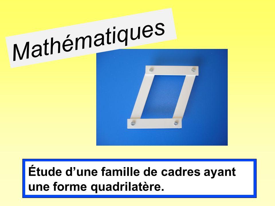 Mathématiques Objectif de cette première séance en mathématiques: reconnaissance du parallélogramme.