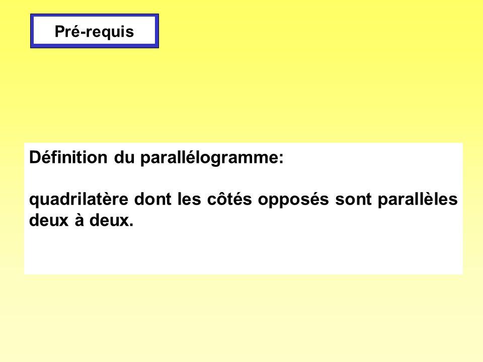 Définition du parallélogramme: