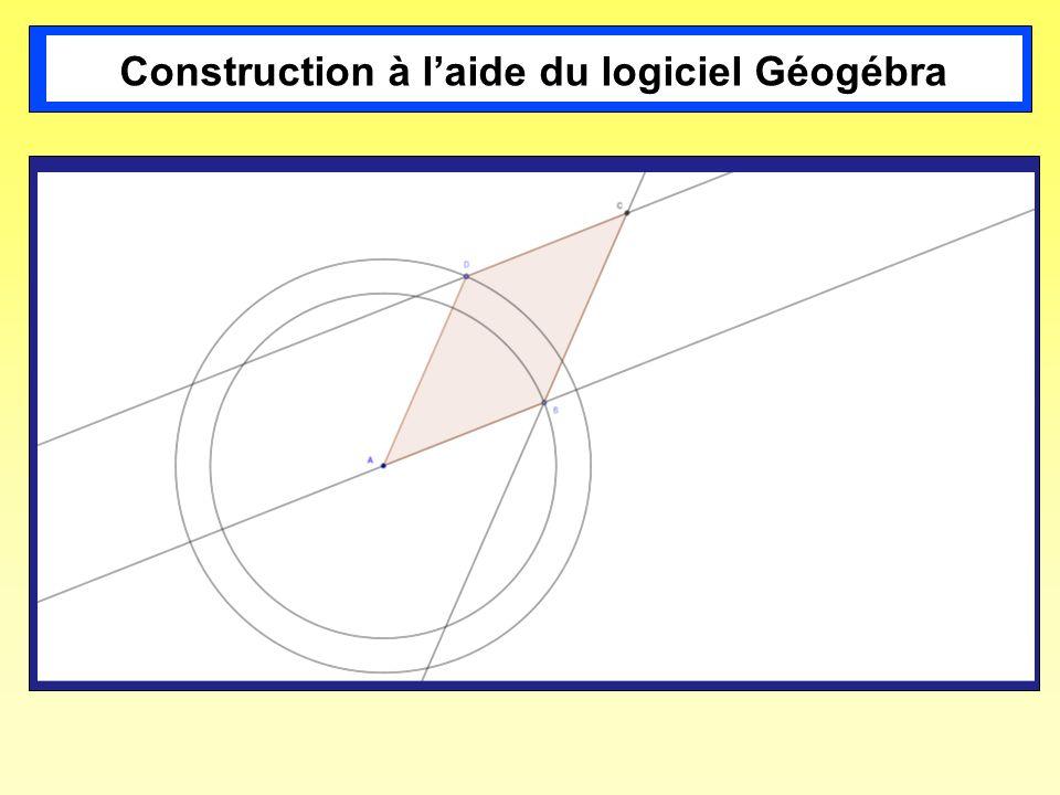 Construction à l'aide du logiciel Géogébra