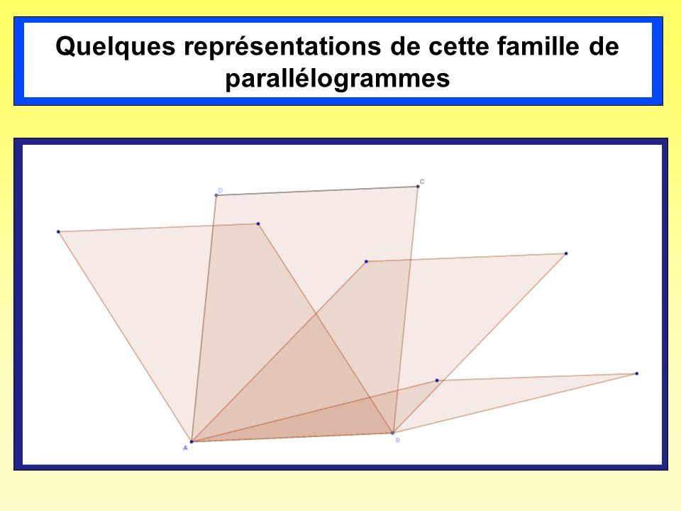 Quelques représentations de cette famille de parallélogrammes