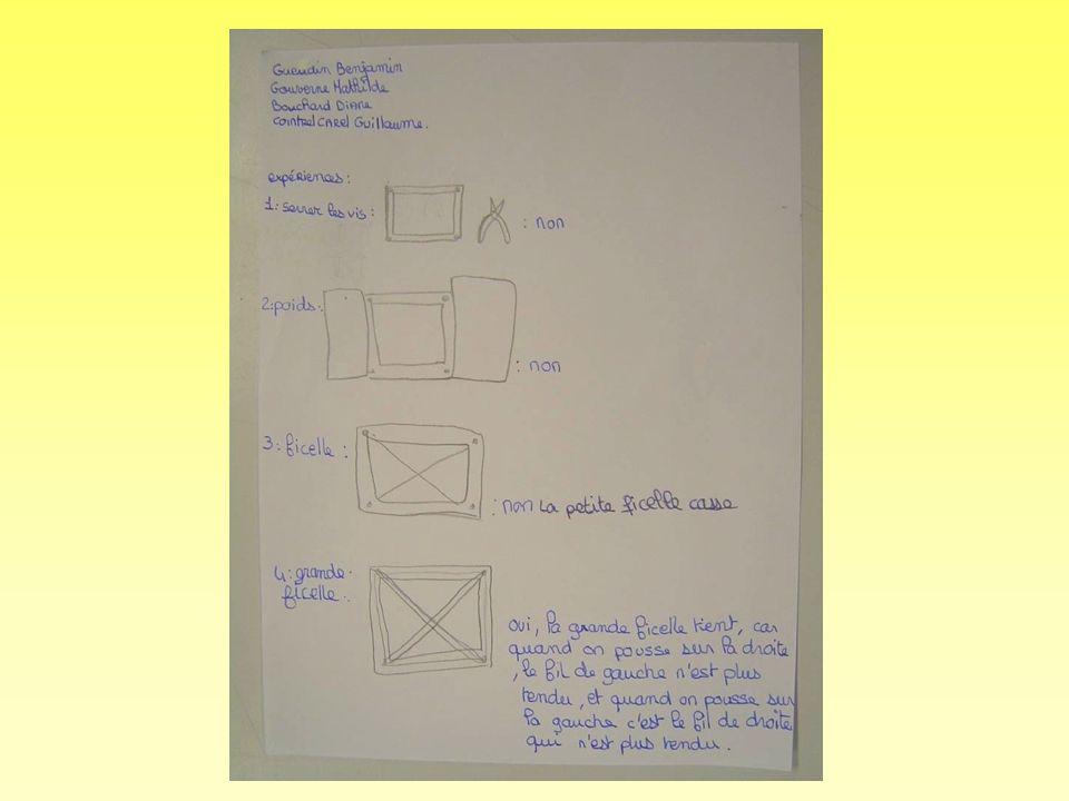 Exemples de traces écrites réalisées par des élèves de 5ème