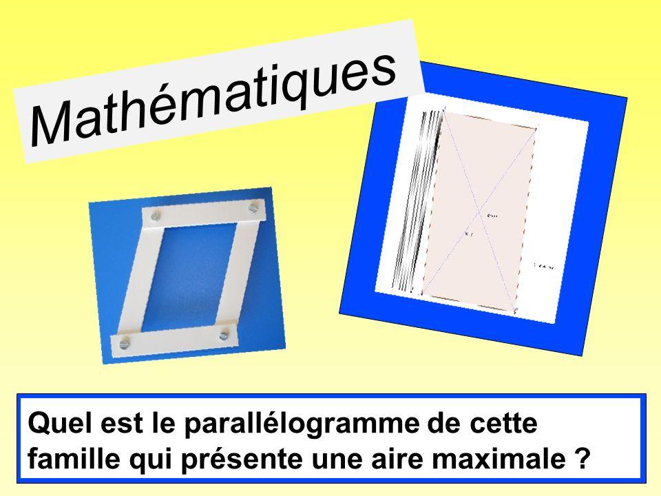 Mathématiques Les élèves ont constaté précédemment que les parallélogrammes de cette famille ont tous le même périmètre.