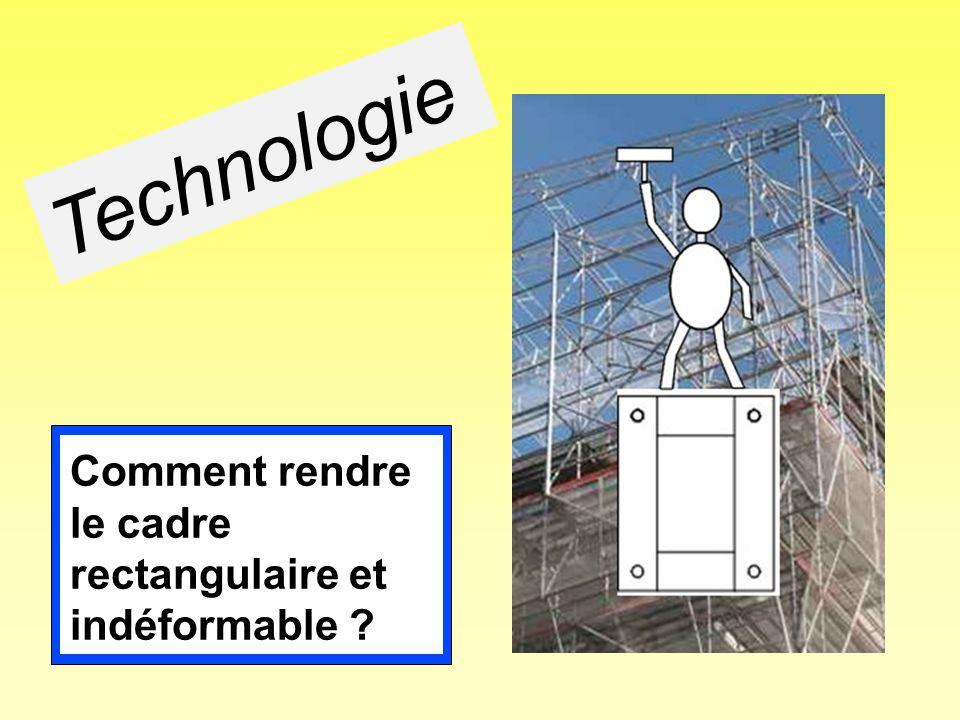 Technologie Comment rendre le cadre rectangulaire et indéformable