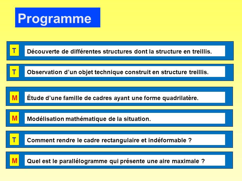 Programme T T M M Voici les six séances élaborées pour cette séquence.