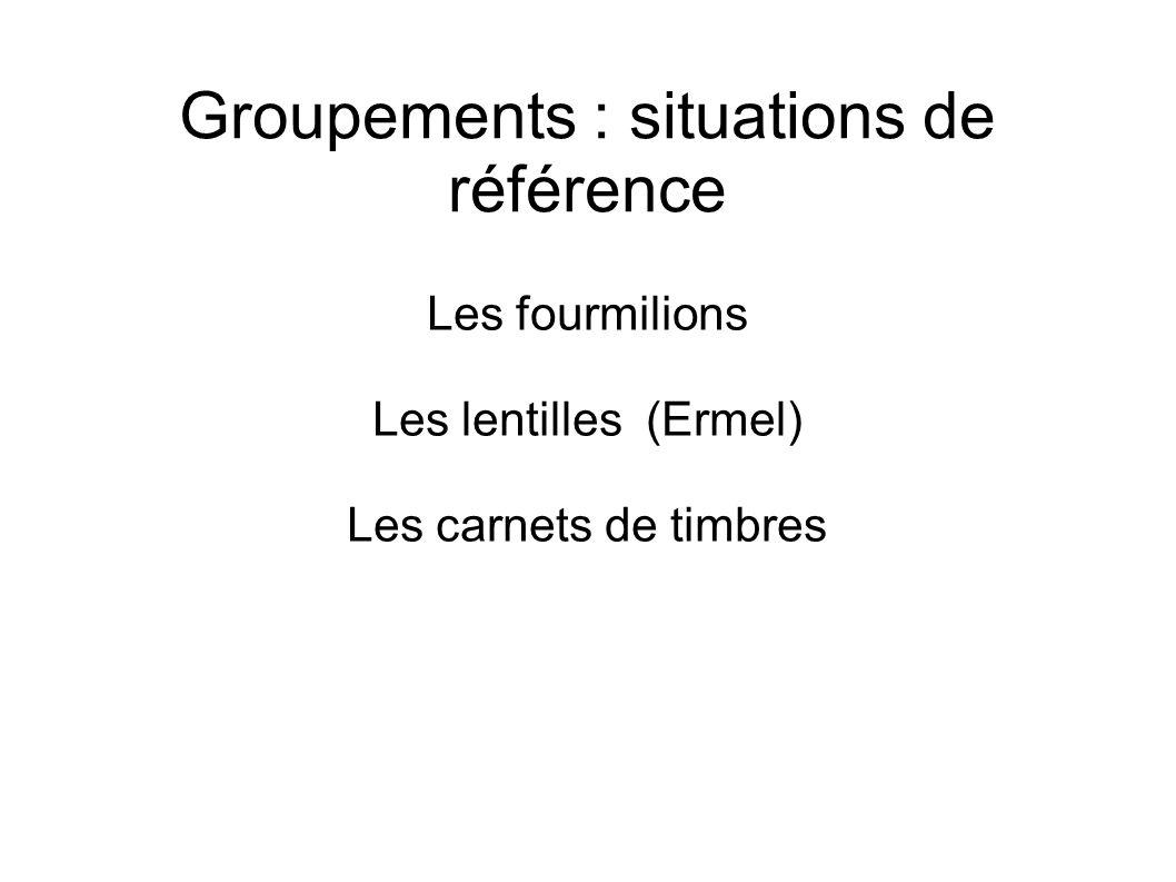 Groupements : situations de référence