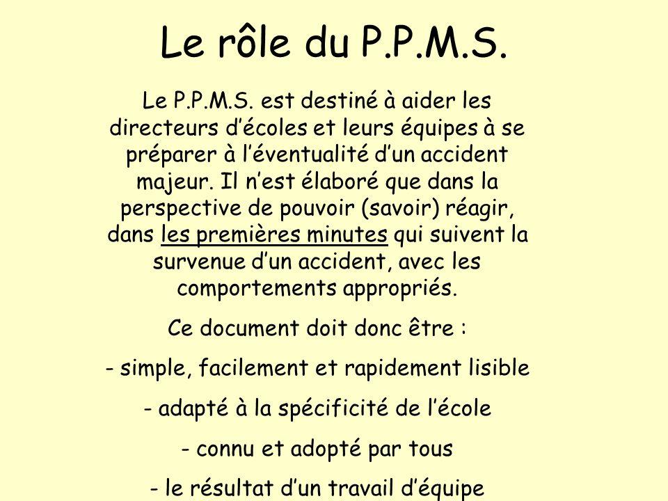 Le rôle du P.P.M.S.