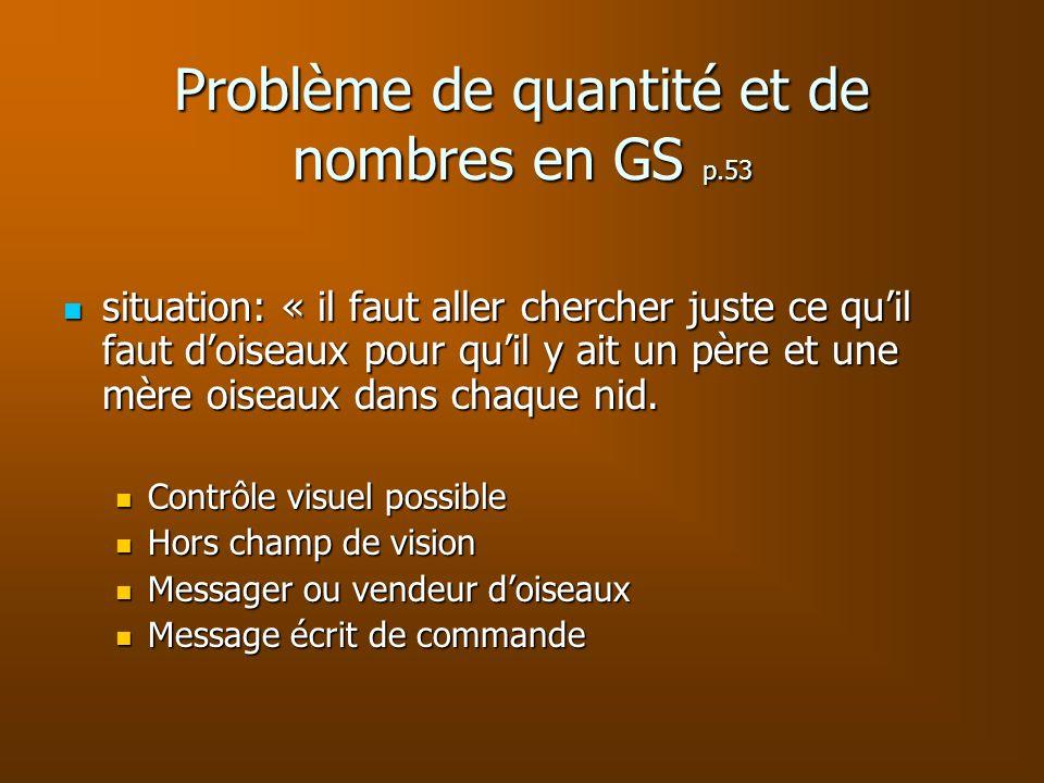 Problème de quantité et de nombres en GS p.53