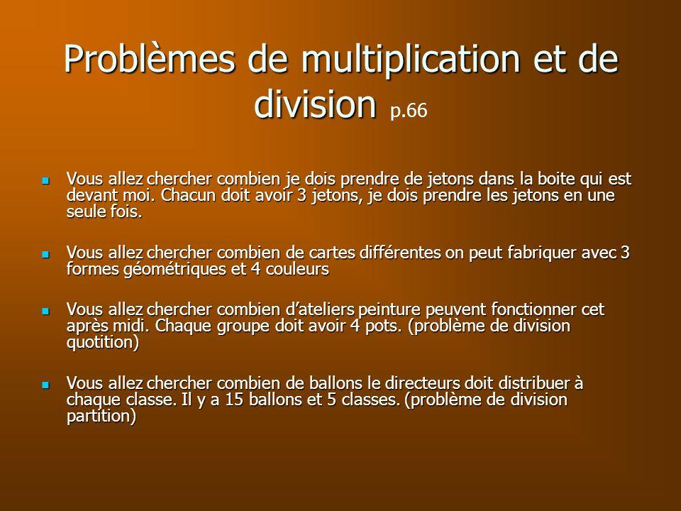 Problèmes de multiplication et de division p.66