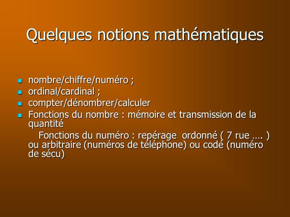 Quelques notions mathématiques