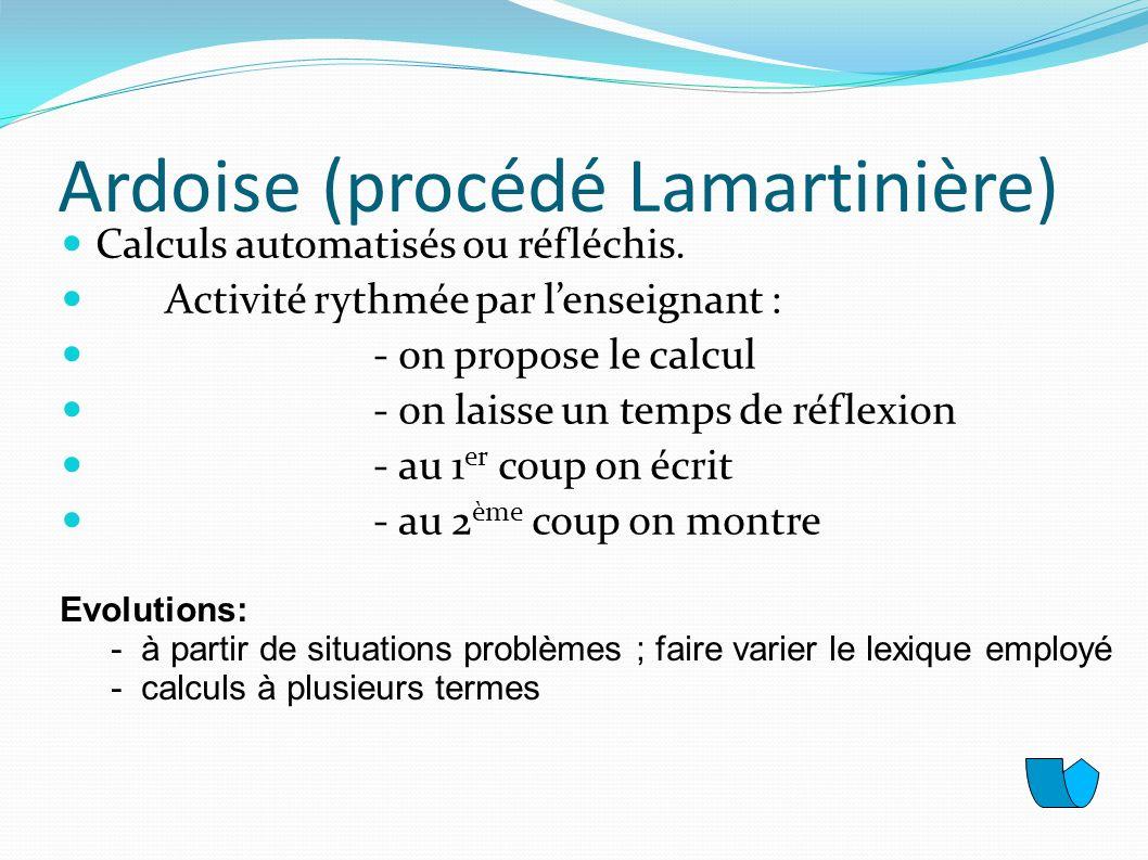Ardoise (procédé Lamartinière)