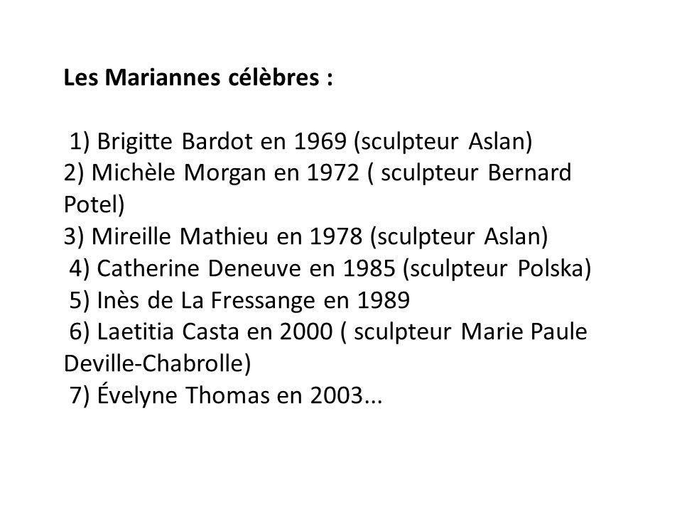 Les Mariannes célèbres :