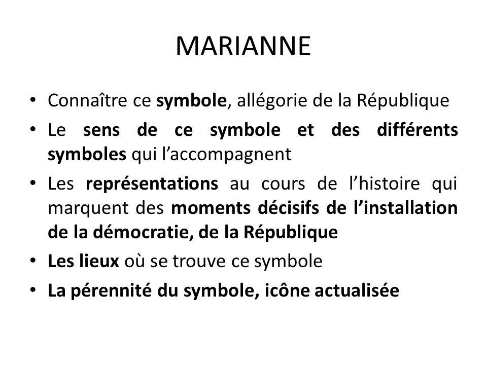 MARIANNE Connaître ce symbole, allégorie de la République
