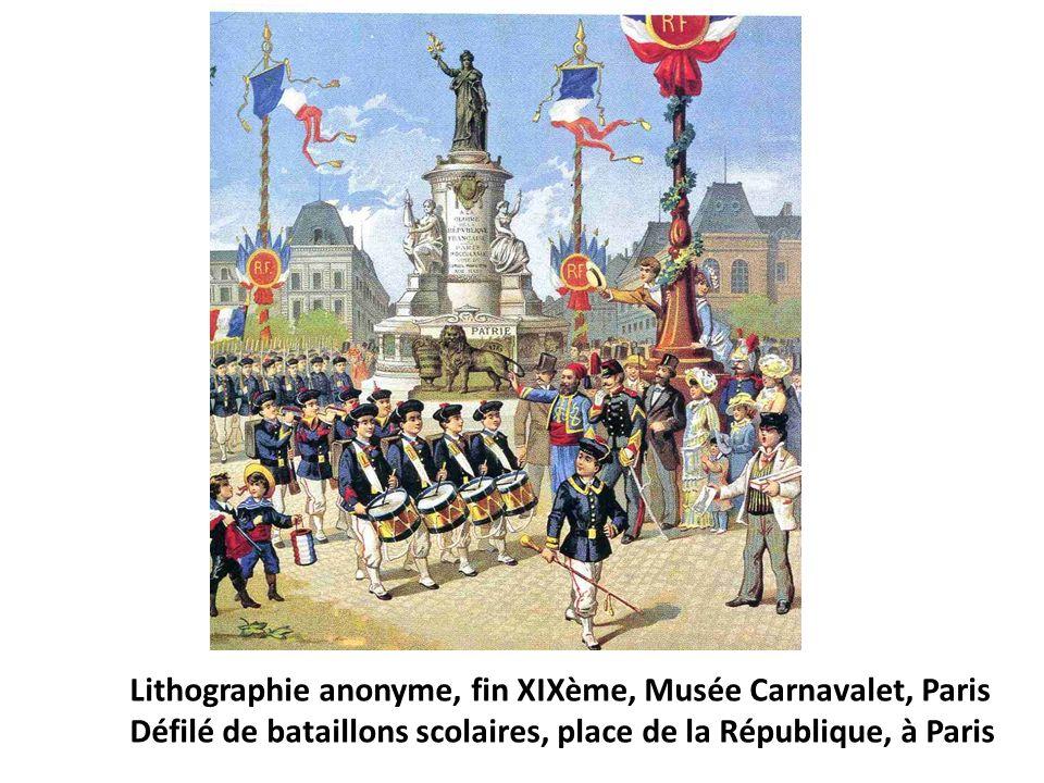 Lithographie anonyme, fin XIXème, Musée Carnavalet, Paris
