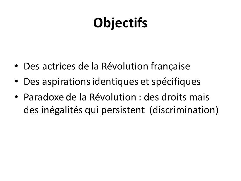 Objectifs Des actrices de la Révolution française